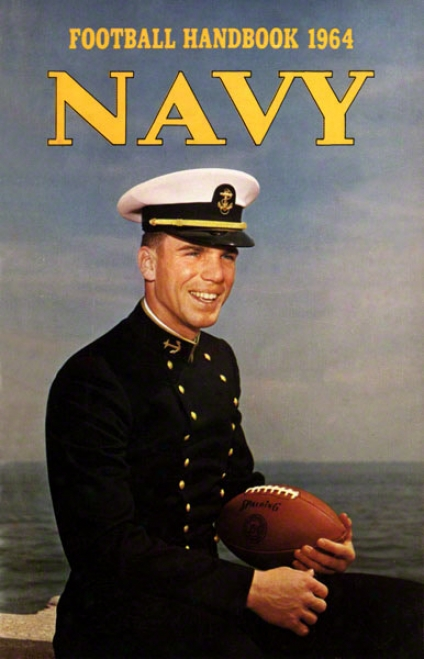1964 Navy Staubach Program Print 36 X 48 Canvas Historic Football Print