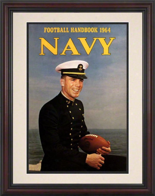 1964 Navy Staubach Program Print 8.5 X 11 Framed Historic Football Print