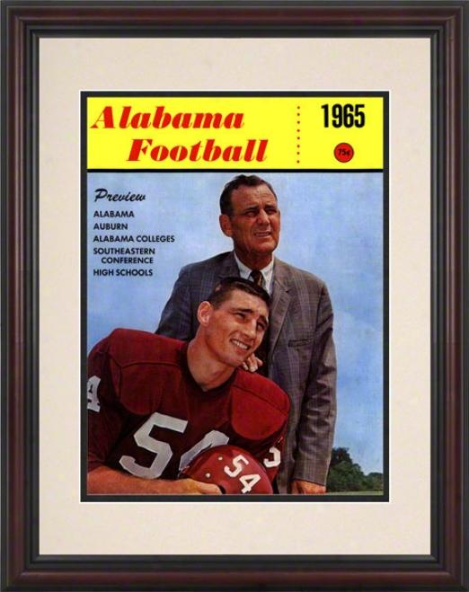 1965 Alabama Bryant Cover 8.5 X 11 Framed His5oric Football Prinnt