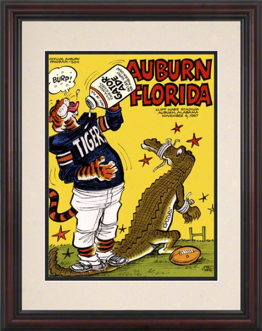1967 Auburn Vs. Florida 8.5 X 11 Framed Historic Football Print