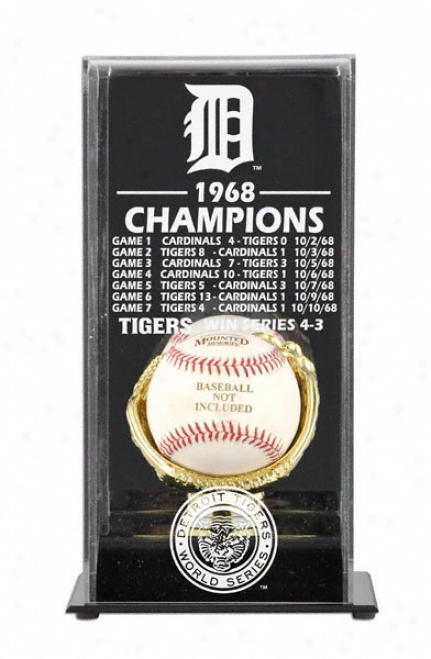 1968 Detroit Tigers World Seriies Champs Display Box