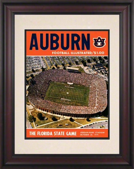 1974 Aub8rn Vs .Florida State 10.5x14 Framed Historic Football Print