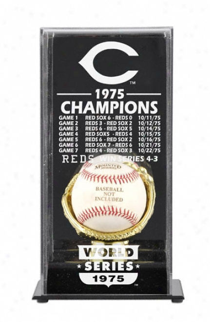 1975 Cincinnati Reds World Series Champs Display Case