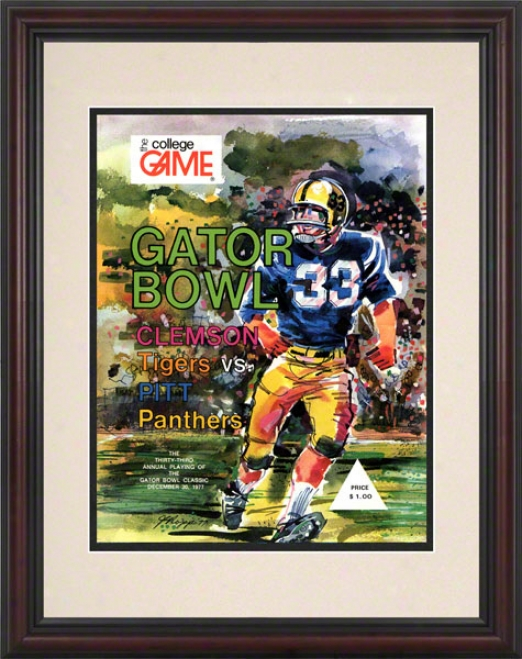 1977 Pitt Vs. Clemson 8.5 X 11 Framed Historic Football Print