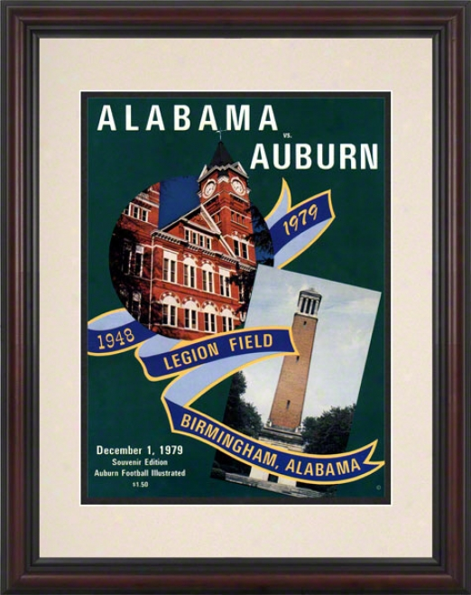 1979 Auburn Vs. Alabama 8.5 X 11 Framed Historic Football Print
