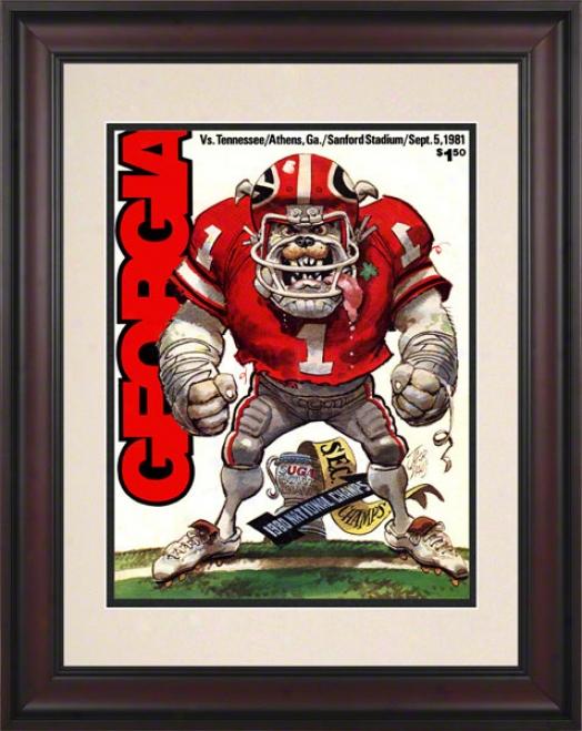 1981 Georgia Vs. Tennessee 10.5x14 Framed Historic Football Print