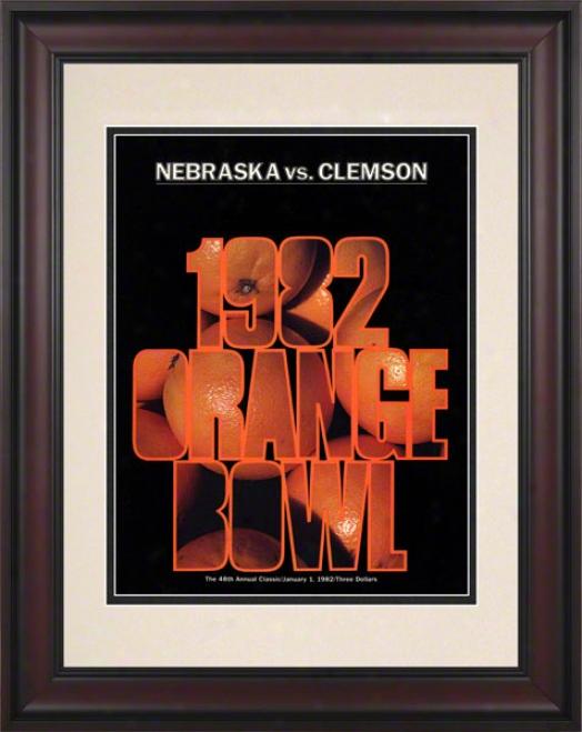 1982 Clemson Vs Nebraska 10 1/2 X 14 Framed Historic Football Poster
