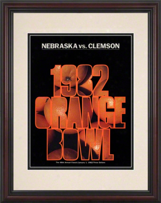 1982 Clemson Vs Nebraska 8.5 X 11 Framed Historic Football oPster
