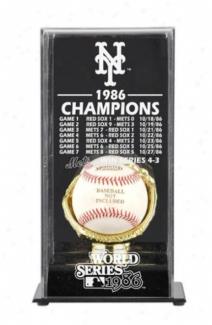 1986 New York Mets World Series Champs Display Case