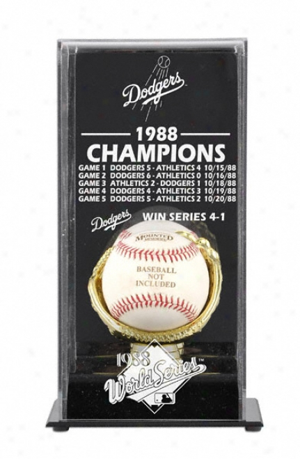 1988 Los Anveles Dodgers World Succession Champs Display Case