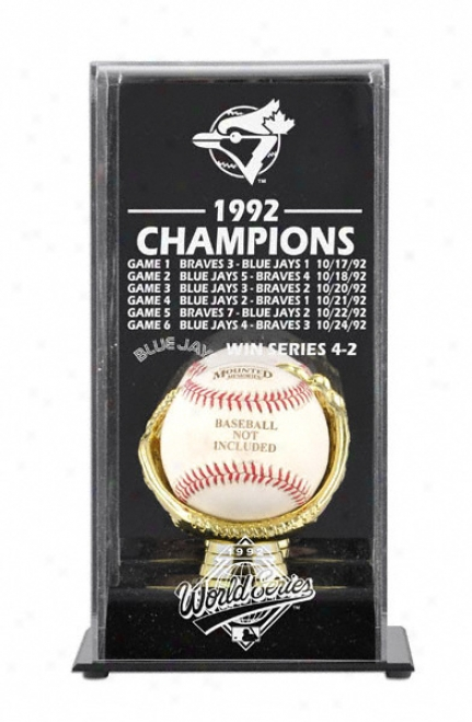1992 Toronto Blue Jays World Series Champs Display Case