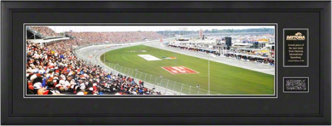 1998 Daytona 500 Framed Unsigned Panoramic Photograph With Track Pkece