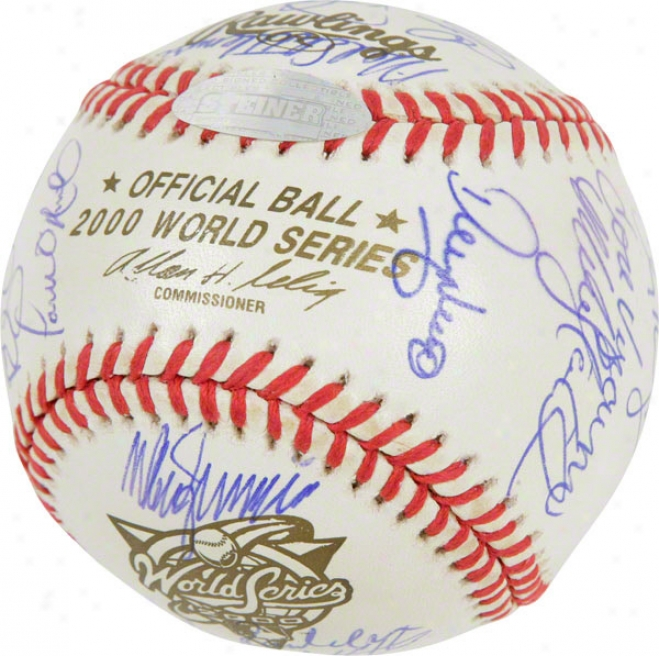 2000 New York Yankees Team Signed Baseball