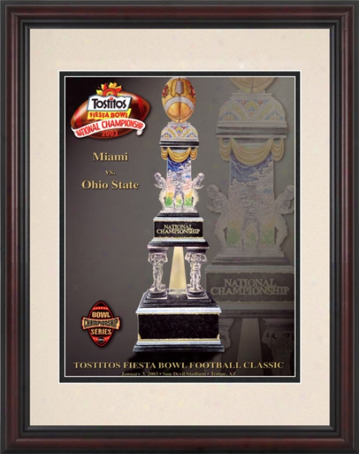 2003 Ohio State Buckeyes Vs. Miami Hirricanes 8.5 X 11 Framed Historic Football Print
