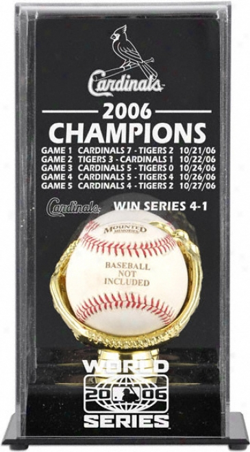 2006 St. Louis Cardinals Worrld Series Champs Display Case