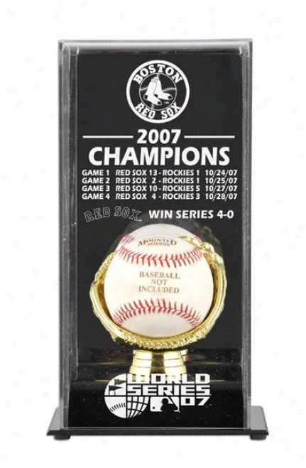 2007 Boston Red Sox World Series Champs Display Case