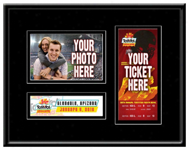 2010 Fiesta Bowl Game Day Ticket Frame