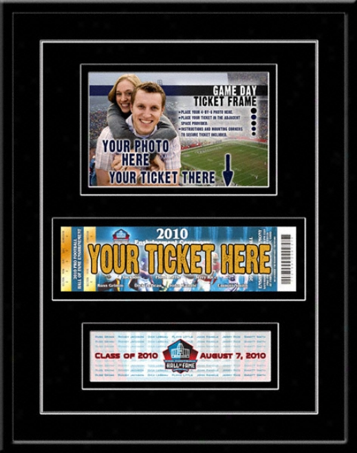 2010 Pro Football Hall Of Fame Enshrinement Photo & Ticket Construct