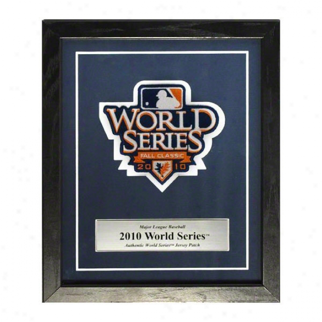 2010 World Series Embroidered Commemkrative Patch Mat And Frame