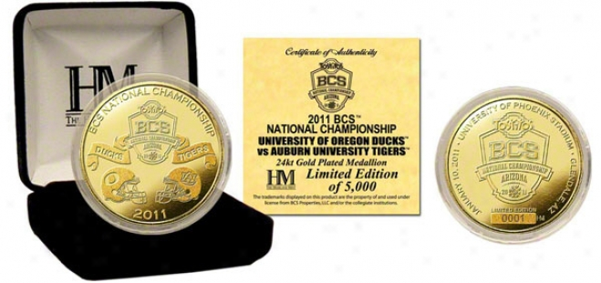 2011 Bcs Championship Game Commemorative 24kt Gold Coin