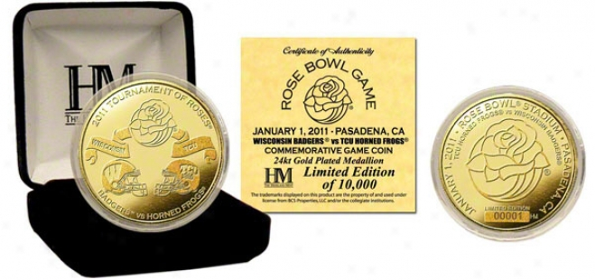 2011 Rose Bowl Commemorative 24kt Gold Coin