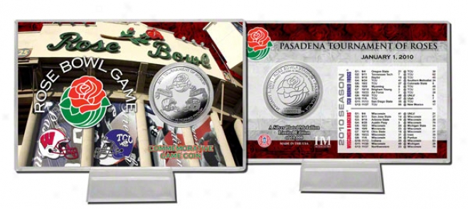 2011 Rose Bowl Cmmemorative Silver Coin Card