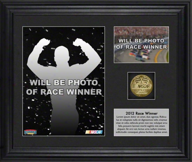 2012 Gatorade Duel 1 Race At Daytona International Speedway Tony Stewart Race Winner Framed 6x8 Photo  Details: W/ Plate And Gold Prop, L.e. Of 314