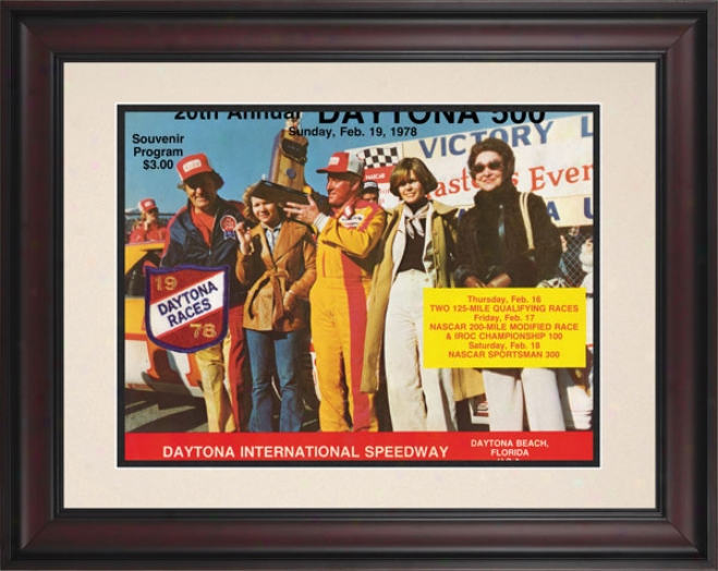20th Annual 1978 Daytona 500 Framed 10.5 X 14 Program Print
