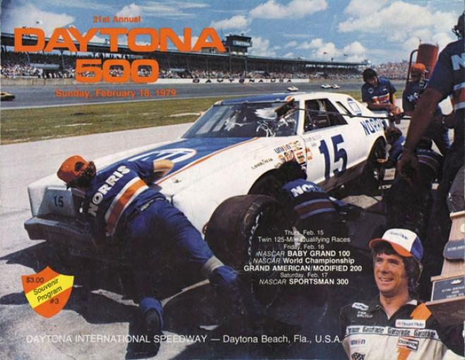 21st Annual 1979 Daytona 500 Canvas 22 X 30 Program Newspaper