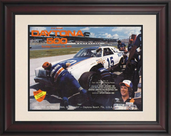 21st Annual 1979 Daytona 500 Framed 10.5 X 14 Program Print