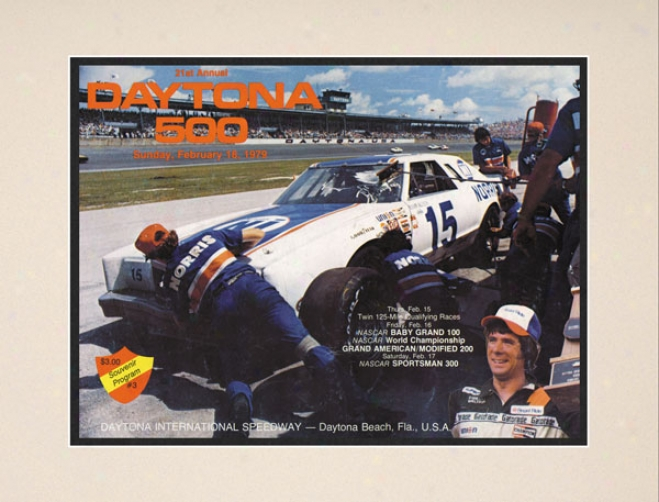 21st Annual 1979 Daytona 500 Matted 10.5 X 14 Program Print