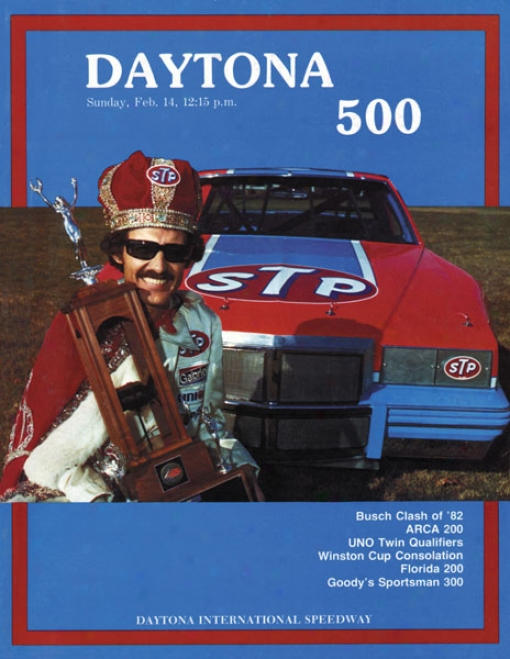 24th Annual 1982 Daytona 500 Canbas 22 X 30 Program Print