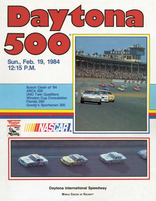 26th Annual 1984 Daytona 500 Canvas 36 X 48 Program Print