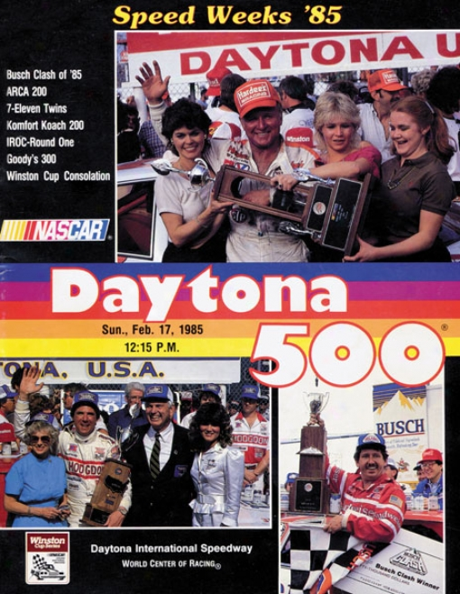 27th Annual 1985 Daytona 500 Canvas 22 X 30 Program Print