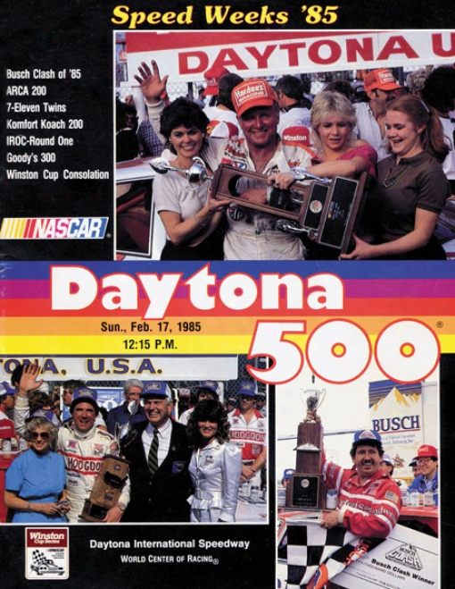 27th Annual 1985 Daytona 500 Canvas 36 X 48 Program Print