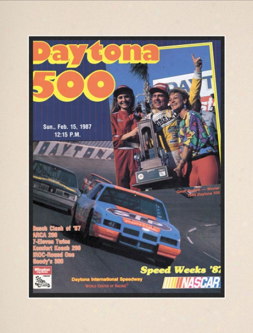 29th Annual 1987 Daytona 500 Matted 10.5 X 14 Program Print