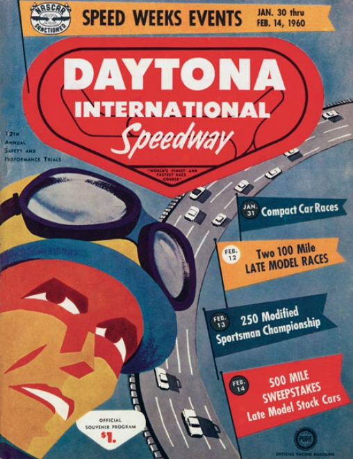 2nd Annual 1960 Daytona 500 Canvas 36 X 48 Prograk Print