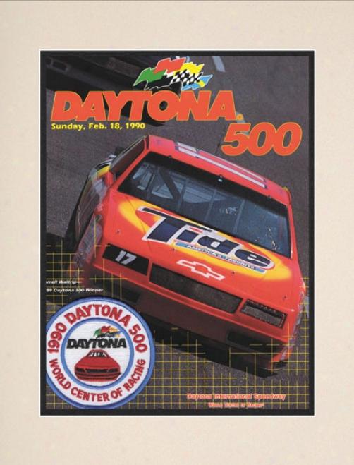 32nd Annual 1990 Daytona 500 Matted 10.5 X 14 Program Print
