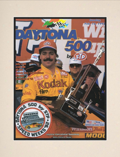 34th Annual 1992 Daytona 500 Matted 10.5 X 14 Program Mark