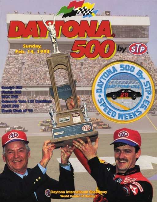 35th Annual 1993 Daytona 500 Cnvas 36 X 48 Program Print