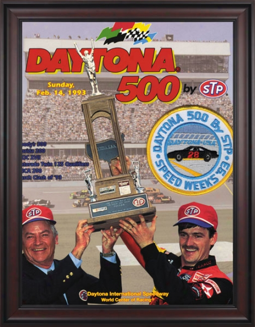 35th Annual 1993 Daytkna 500 Framed 36 X 48 Program Print