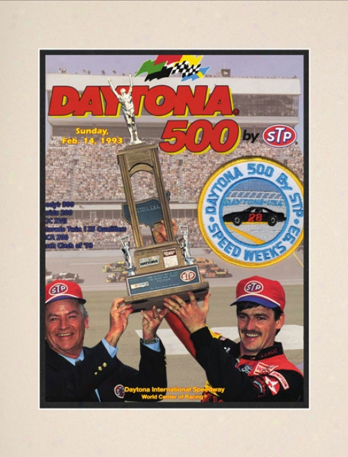35th Annual 1993 Daytona 500 Matted 10.5 X 14 Program Print