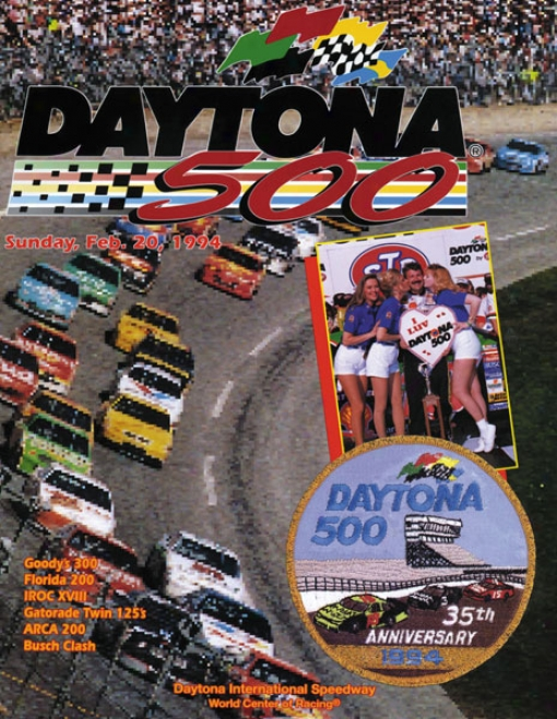36th Annual 1994 Daytona 500 Canvas 36 X 48 Program Print