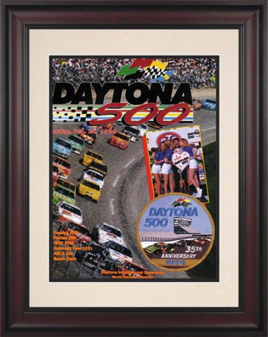 36th Annual 1994 Daytona 500 Framed 10.5 X 14 Program Print