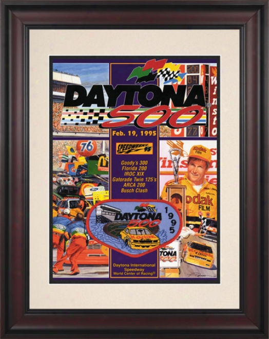 37th Annual 1995 Daytona 500 Framed 10.5 X 14 Program Print