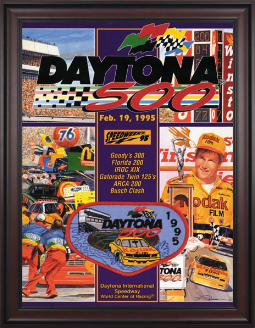 37th Annual 1995 Daytona 50 0Framed 36 X 48 Program Print