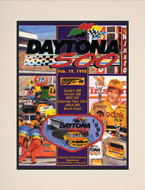 37th Annual 1995 Daytona 500 Matted 10.5 X 14 Program Print