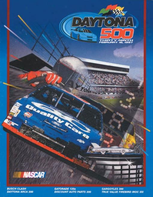 39th Annual 1997 Daytona 500 Canvas 22 X 30 Program Print