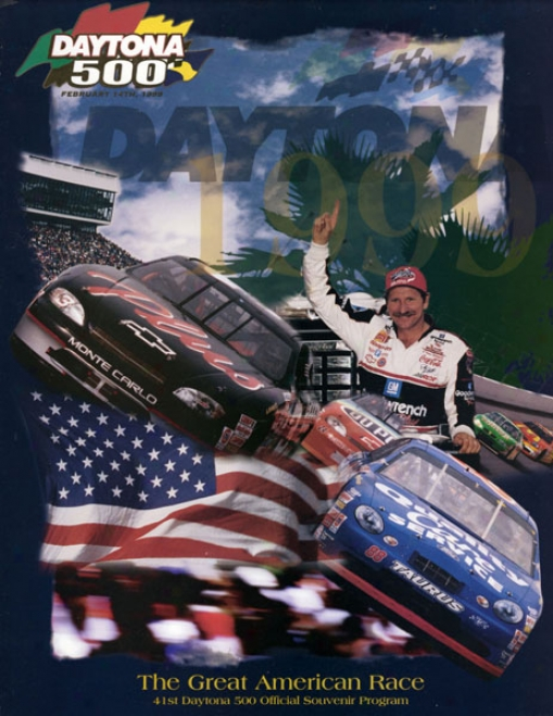 41st Annual 1999 Daytona 500 Canvas 22 X 30 Program Print