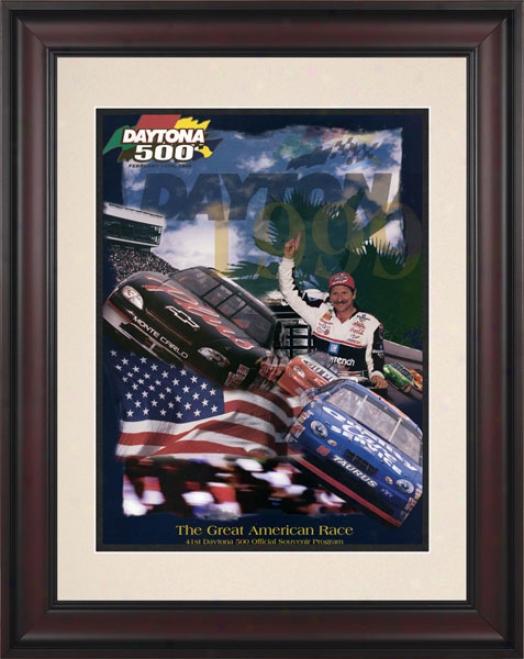 41st Annual 1999 Daytona 500 Framed 10.5 X 14 Program Print